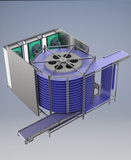 Single Drum Spiral Freezer