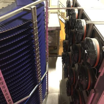 1.500kg/h Kapasiteli Unlu Mamül Spiral Freezer